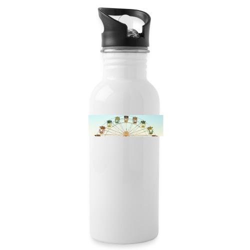 header_image_cream - Water bottle with straw