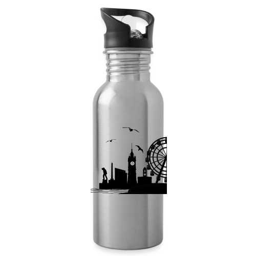 Silhouette of Margate - Water Bottle