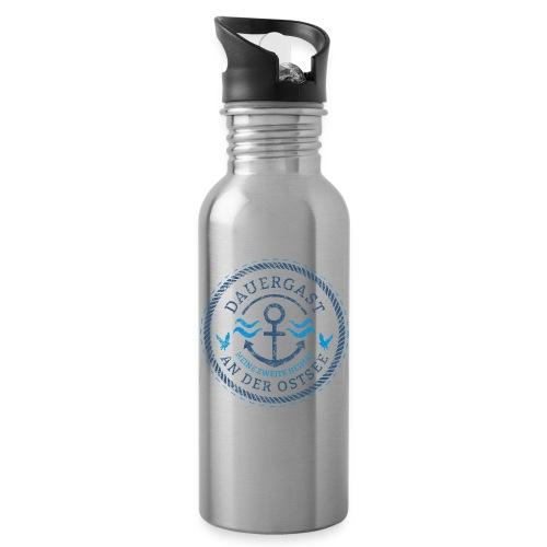Ich bin Dauergast an der Ostsee - Trinkflasche