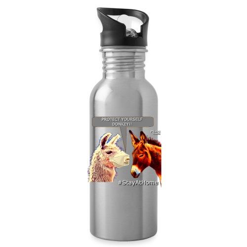 Protect Yourself Donkey - Coronavirus - Water Bottle