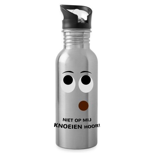 Grappige Rompertjes: Niet op mij knoeien hoor - Drinkfles met geïntegreerd rietje