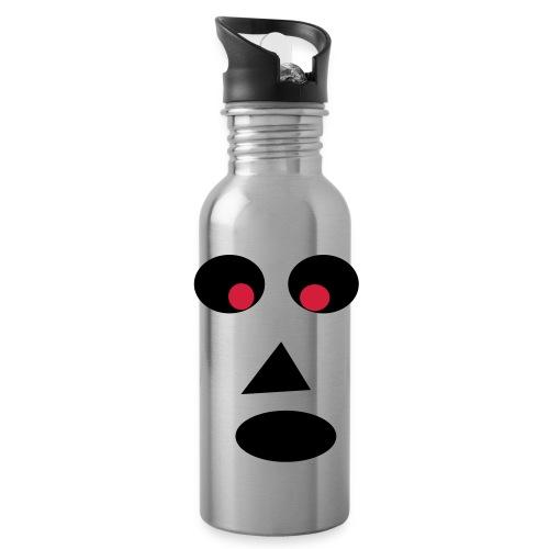 Ansigt - Drikkeflaske med integreret sugerør