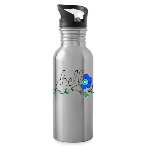 Hello Blume. - Trinkflasche