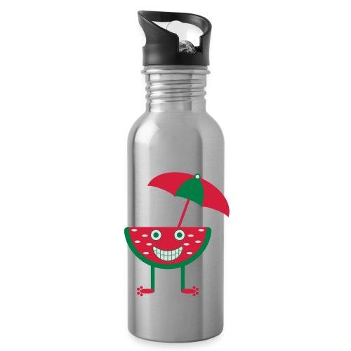Melone mit Sonnenschirm - Trinkflasche