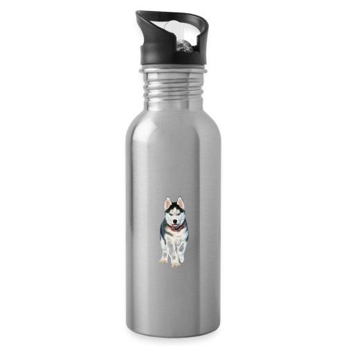 Husky Welpen mit bezaubernden Augen - Trinkflasche