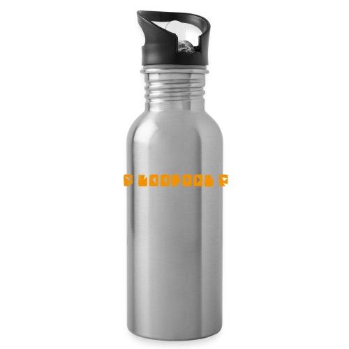 P loofool P - Orange logo - Drikkeflaske