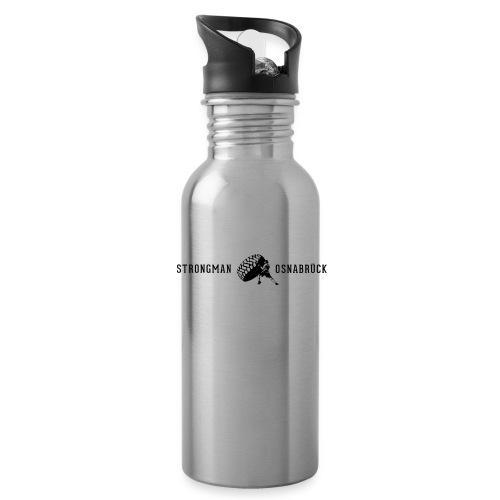 Strongman Logo schwarz - Trinkflasche