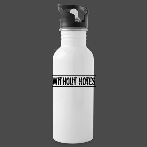 Without Notes Schriftzug Nummer 1 - Trinkflasche