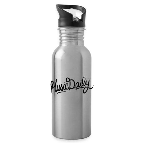 MusicDaily Logo - Drinkfles met geïntegreerd rietje