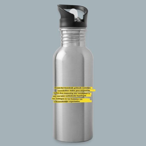 Nederlandse Grondwet T-Shirt - Artikel 94 - Drinkfles