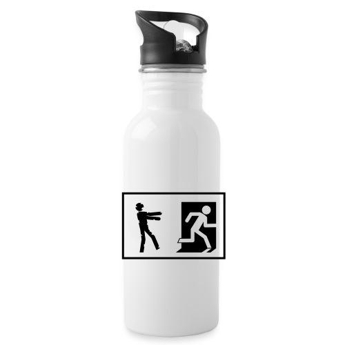 Zombie Invasion Notausgang - Trinkflasche
