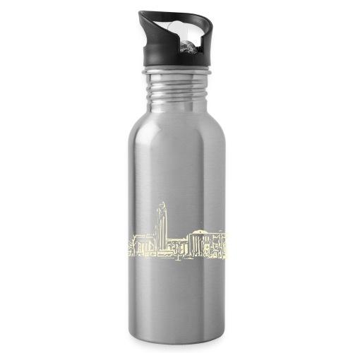 Helsinki railway station pattern trasparent beige - Water Bottle