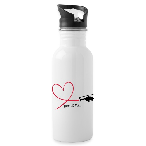 love_to_fly_jet_ranger - Trinkflasche