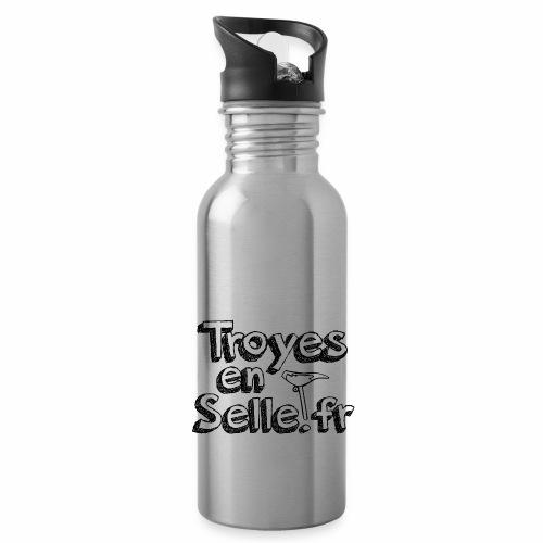 logo Troyes en Selle noir - Gourde