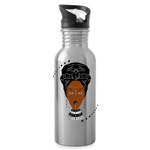 African Black/White Wrap - Water Bottle