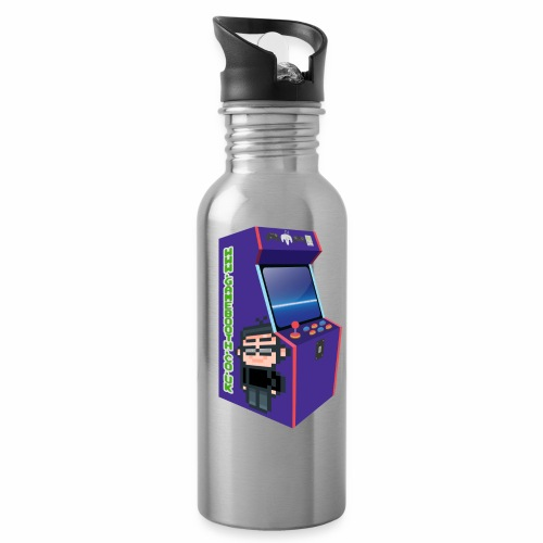 Game Booth Arcade Logo - Water Bottle