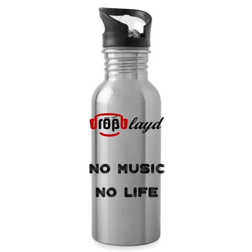 dropblayd Merch - No Music No Life - Trinkflasche