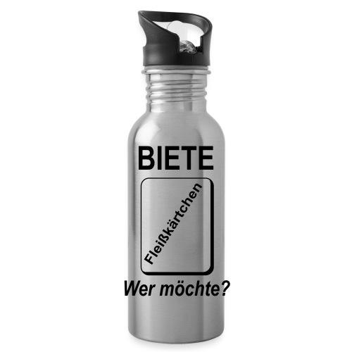 Biete Fleißkärtchen Arbeit Büro Spruch - Trinkflasche