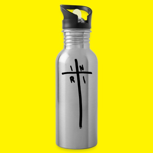 Cross - INRI (Jesus of Nazareth King of Jews) - Water Bottle