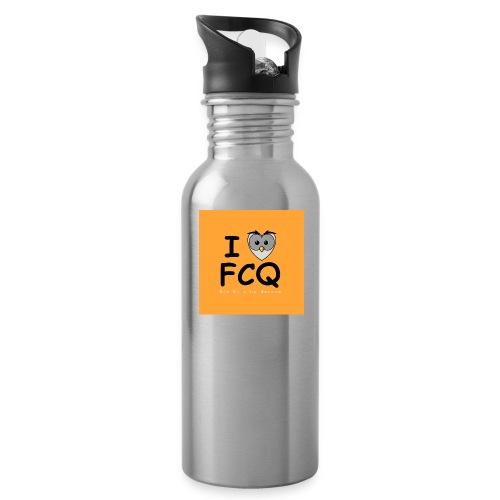 I Love FCQ button orange - Trinkflasche
