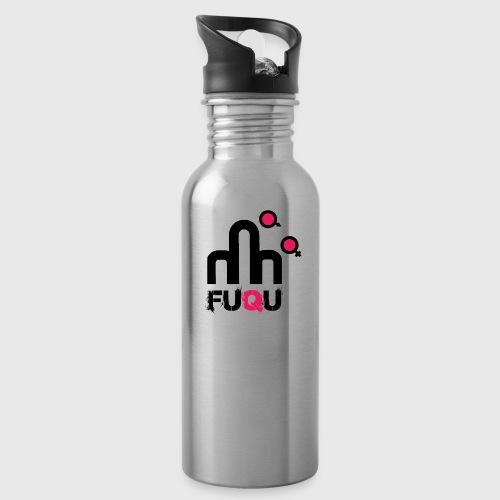 T-shirt FUQU logo colore nero - Borraccia con cannuccia integrata