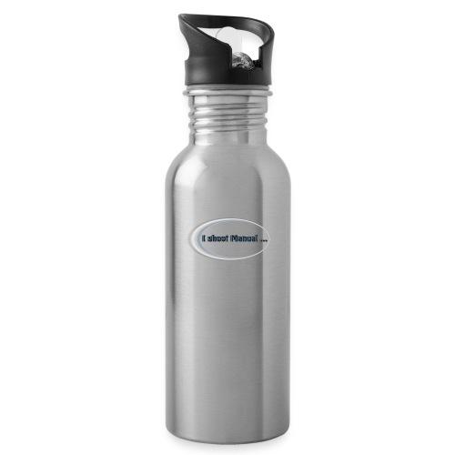 I shoot manual slogan - Water Bottle