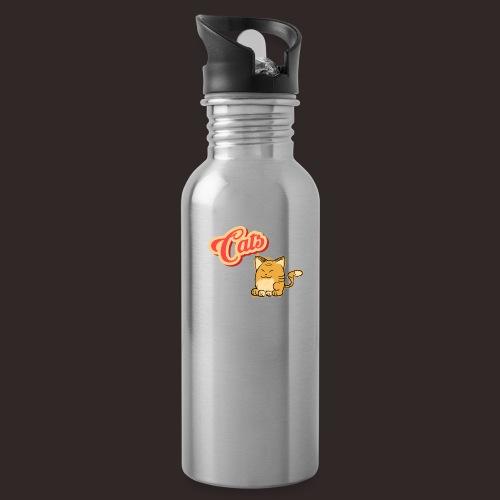 Katze | Katzen süß Schriftzug - Trinkflasche