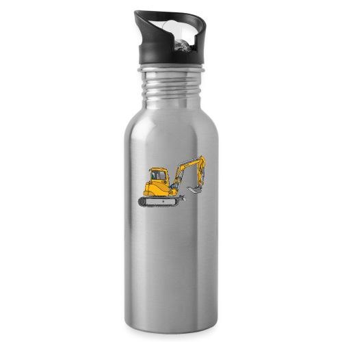Gelber Bagger - Trinkflasche