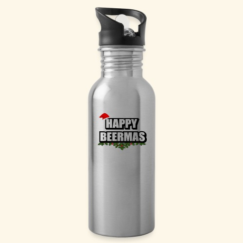 HAPPY BEERMAS AYHT - Water bottle with straw