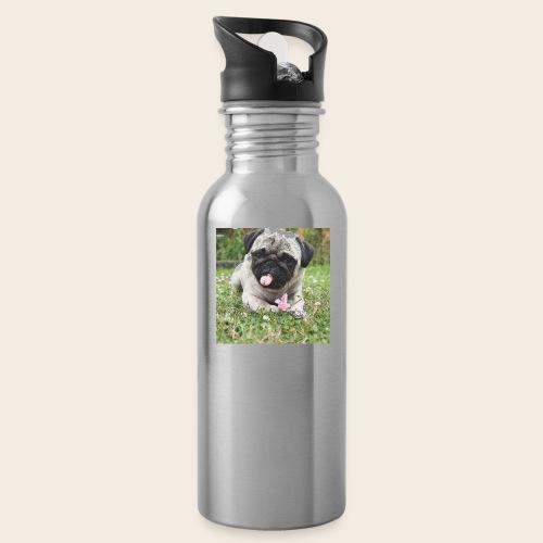 Mops Wiese - Trinkflasche