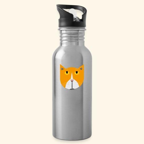 Hieno kissa - Juomapullo, jossa pilli