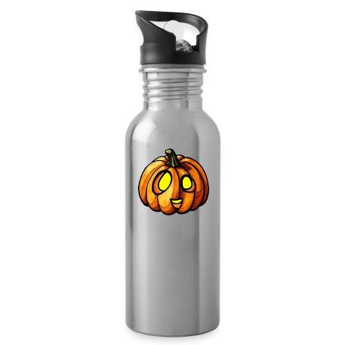 Pumpkin Halloween watercolor scribblesirii - Juomapullo, jossa pilli