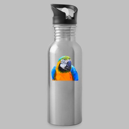 Polygon Papagei Papageienkopf Kunst - Trinkflasche