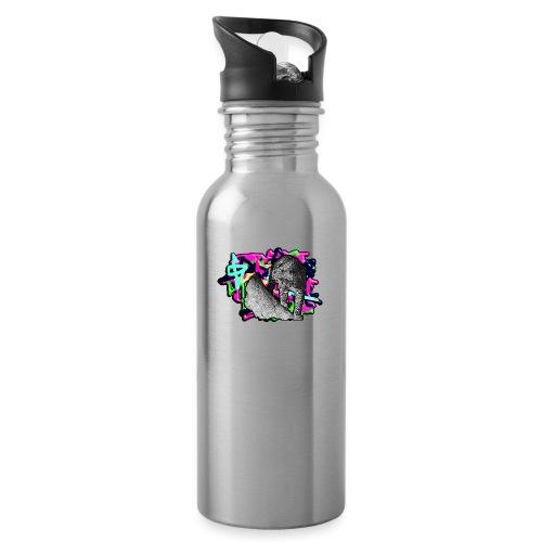 Leopard auf Bunt - Trinkflasche