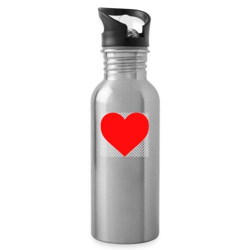 Hjärta - Vattenflaska