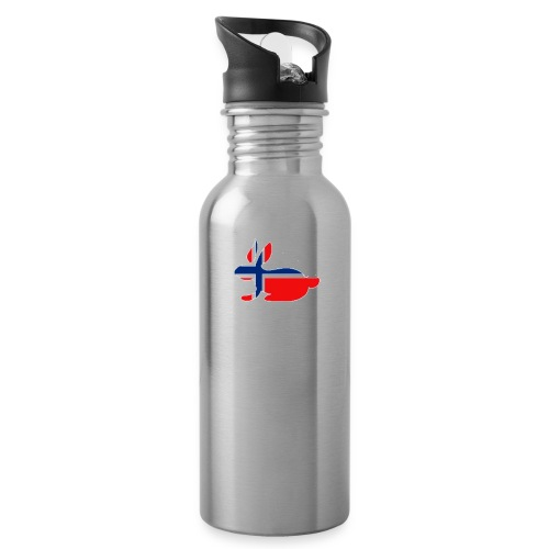 bunny_NY_LOGO_LI - Water bottle with straw