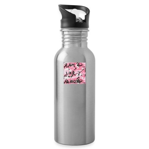 i am loke a boss premium pink camo - Trinkflasche