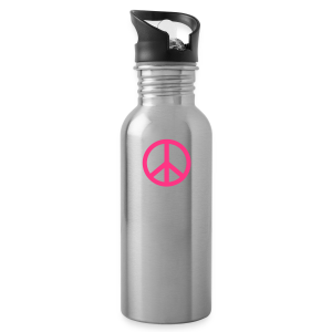 Gay pride peace symbool in roze kleur - Drinkfles