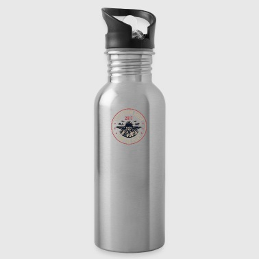 Airplane Pilot Flying Christmas Fighter plane - Water Bottle
