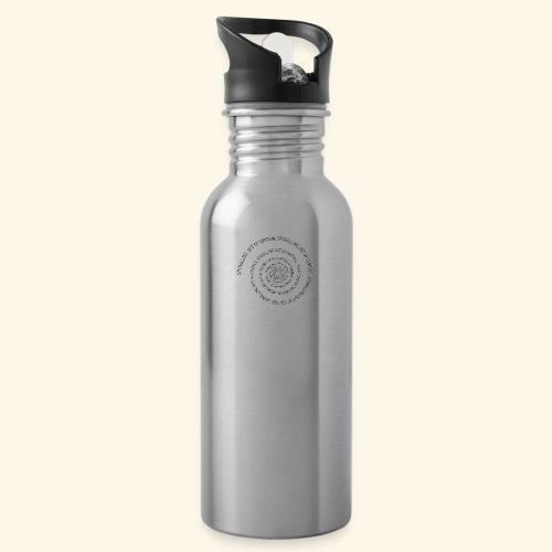 SPIRAL TEXT LOGO BLACK IMPRINT - Water Bottle