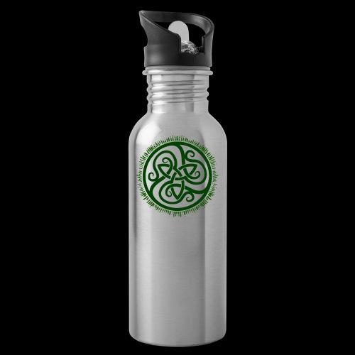 Green Celtic Triknot - Water Bottle
