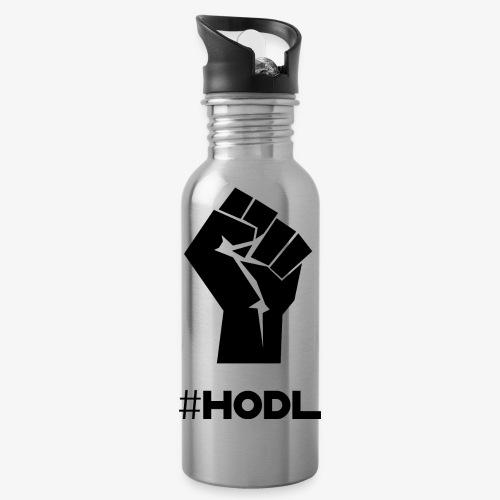 HODL-fist-b - Water Bottle