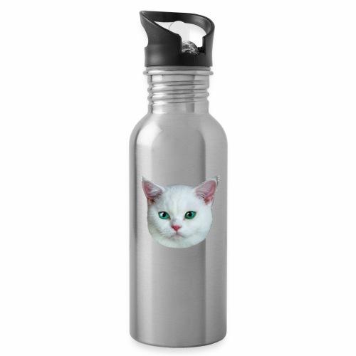 26 Royal Cat Princess white feine weiße Katze - Trinkflasche