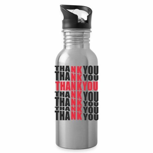 Motyw z napisem Thank You - Bidon