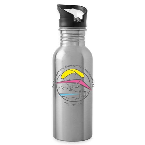 logo dgffn hg weiss transparent - Trinkflasche