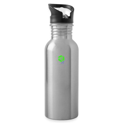 LUSTGANG TV - Trinkflasche mit integriertem Trinkhalm