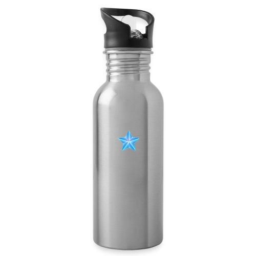 blue themed christmas star 0515 1012 0322 4634 SMU - Water Bottle