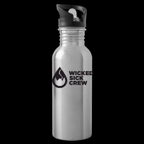 Wicked Sick Crew Tropfen schwarz - Trinkflasche