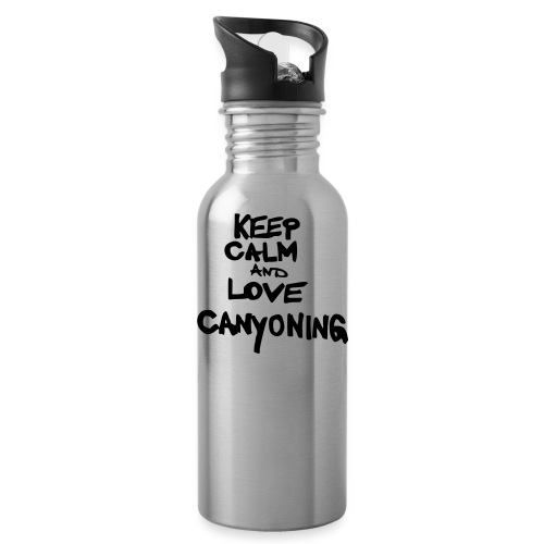keep calm and love canyoning - Trinkflasche