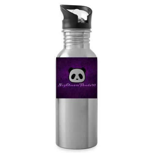 nightmare panda watermark - Water Bottle